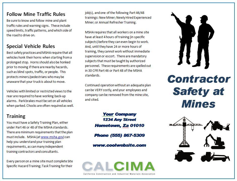 Contractor BrochureJPG – Contractor Site Specific Safety Plan